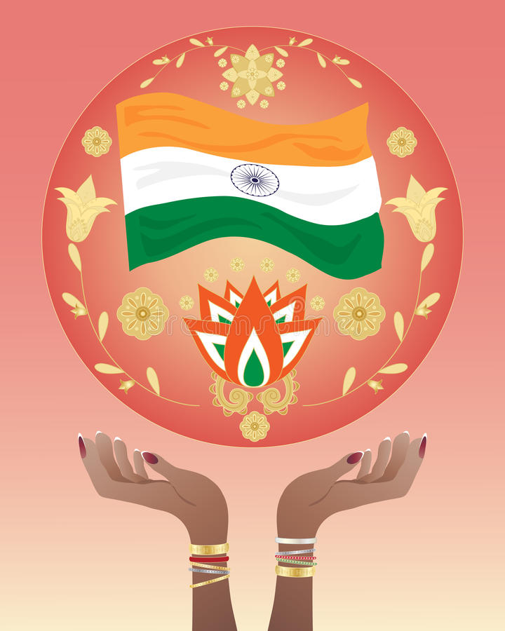 India Hands Stock Photo