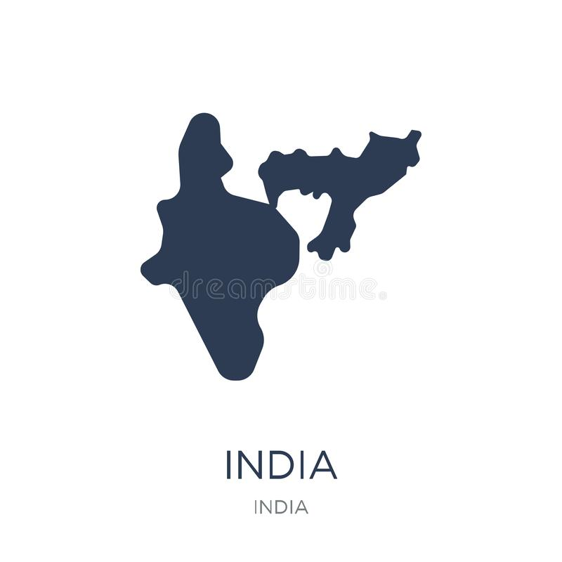 India icon. Trendy flat vector India icon on white background fr. Om india collection, vector illustration can be use for web and mobile, eps10 royalty free illustration