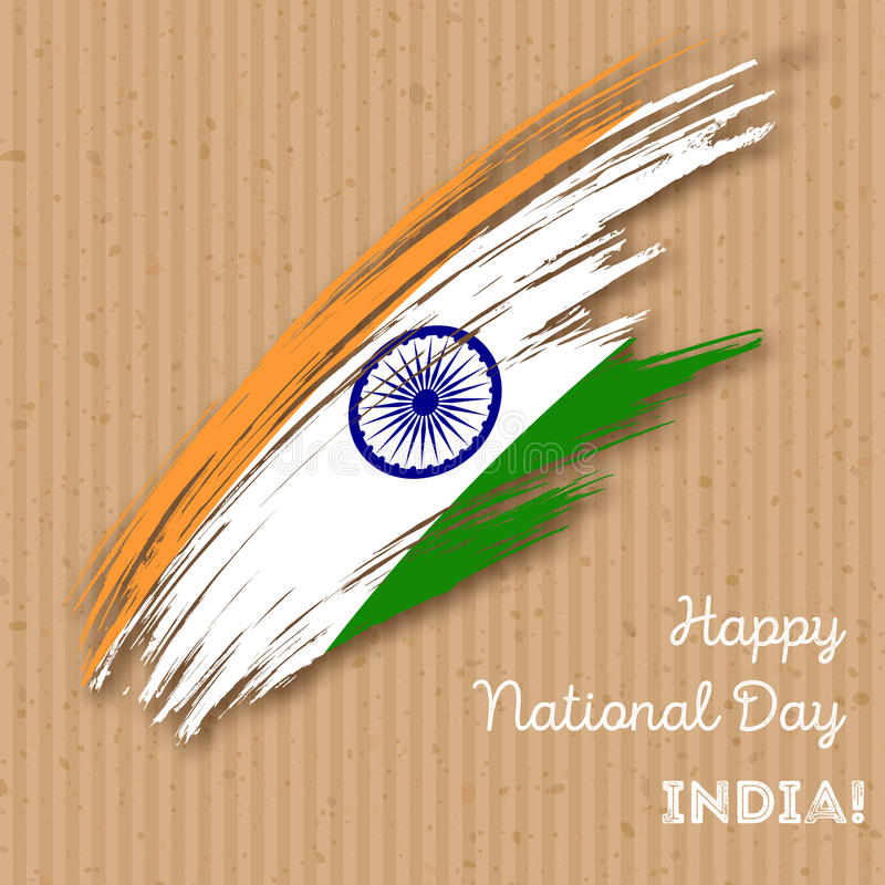 India Independence Day Patriotic Design. royalty free illustration
