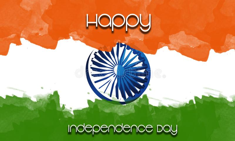 India Independence Day 15th August for poster, banner and greeting cards stock images