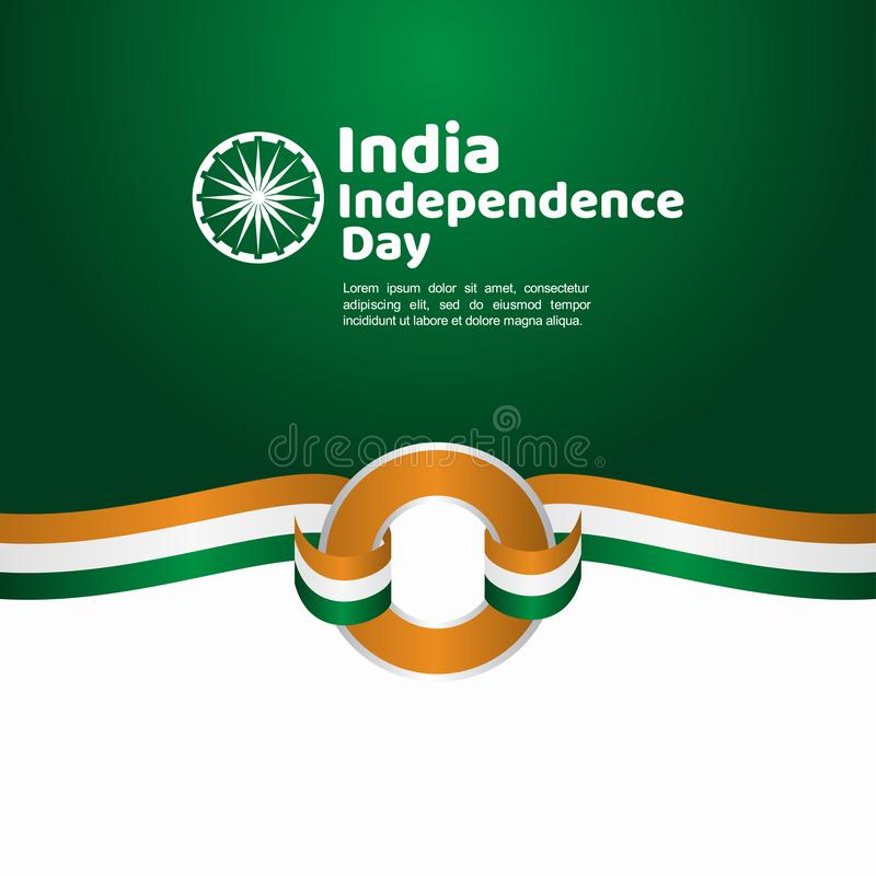 India Independence Day Vector Template Design Illustration. Indian background republic august happy freedom flag holiday green january national tricolor country vector illustration