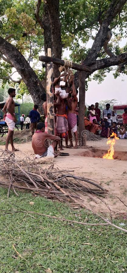 India: Indiaas Religieus Festival stock fotografie