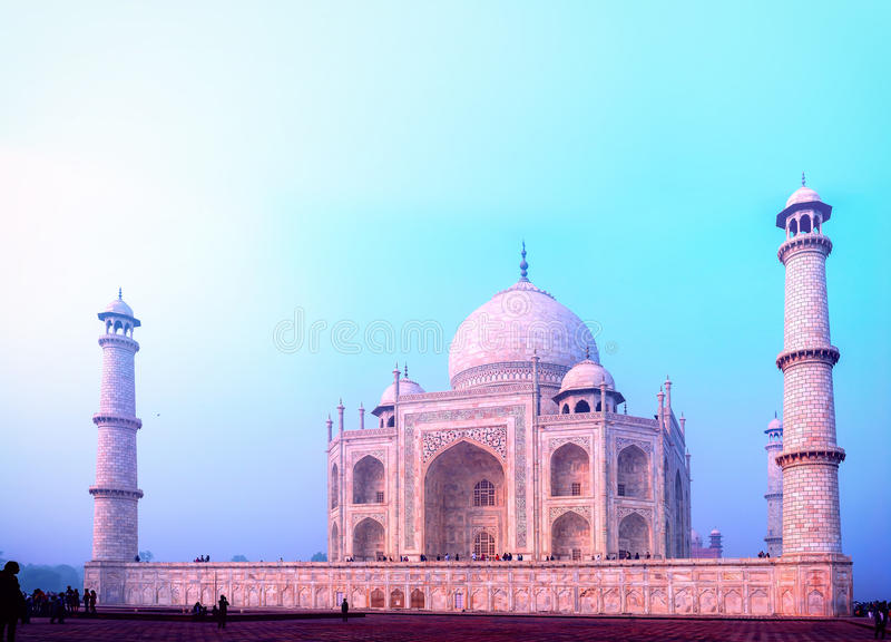 Indisch Paleis Taj Mahal royalty-vrije stock afbeelding