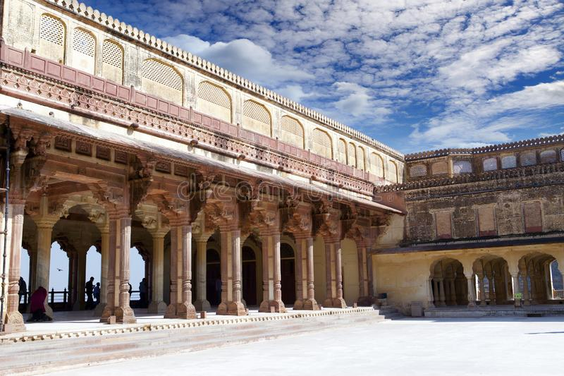 India. Jaipur. Amber fort city landscape in sunny day.  royalty free stock images