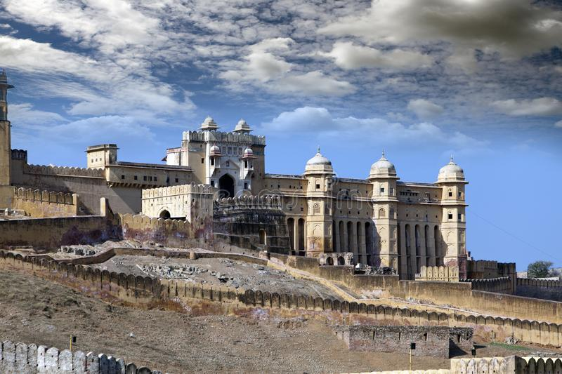 India. Jaipur. Amber fort city landscape in sunny day.  stock image