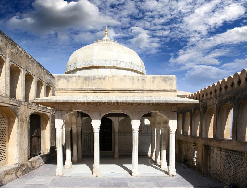 India. Jaipur. Amber fort city landscape in sunny day.  royalty free stock image