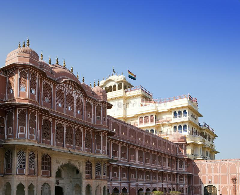 India. Jaipur. City Palace- Palace of the maharaja.  stock photos
