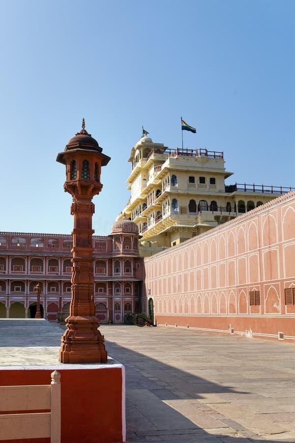 India. Jaipur. City Palace- Palace of the maharaja.  stock photo