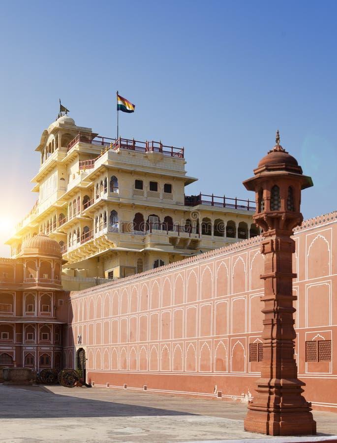India. Jaipur. City Palace- Palace of the maharaja.  stock images