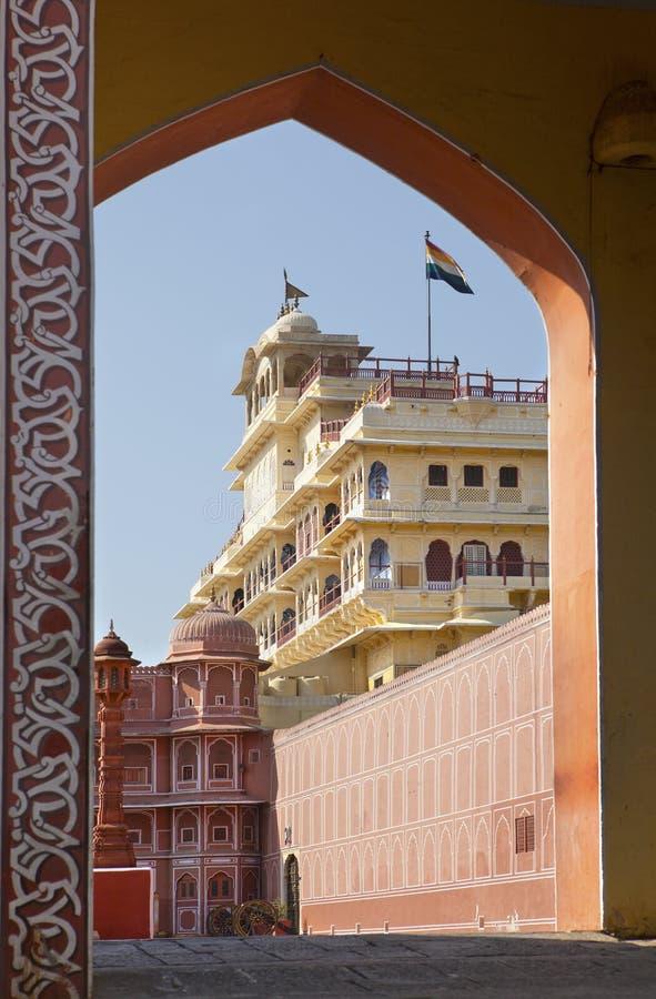 India. Jaipur. City Palace- Palace of the maharaja.  stock photography