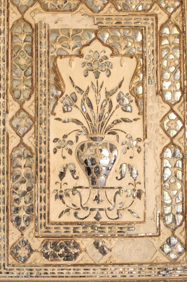 India Jaipur, fresko op een muur royalty-vrije stock afbeeldingen