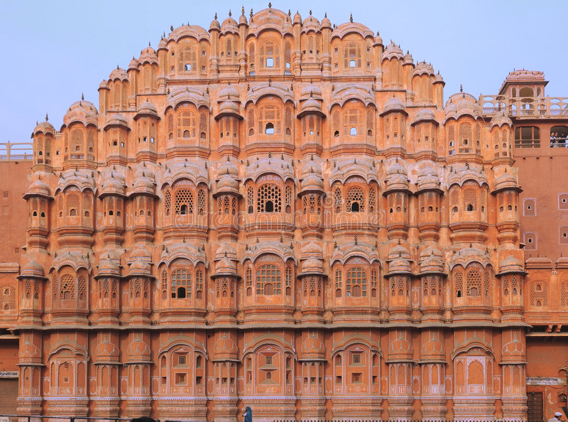 India Jaipur Hawa Mahal the palace of winds. India Jaipur; hawa mahal the palace of winds; situated in the heart of the city this palace is the major attraction royalty free stock photos