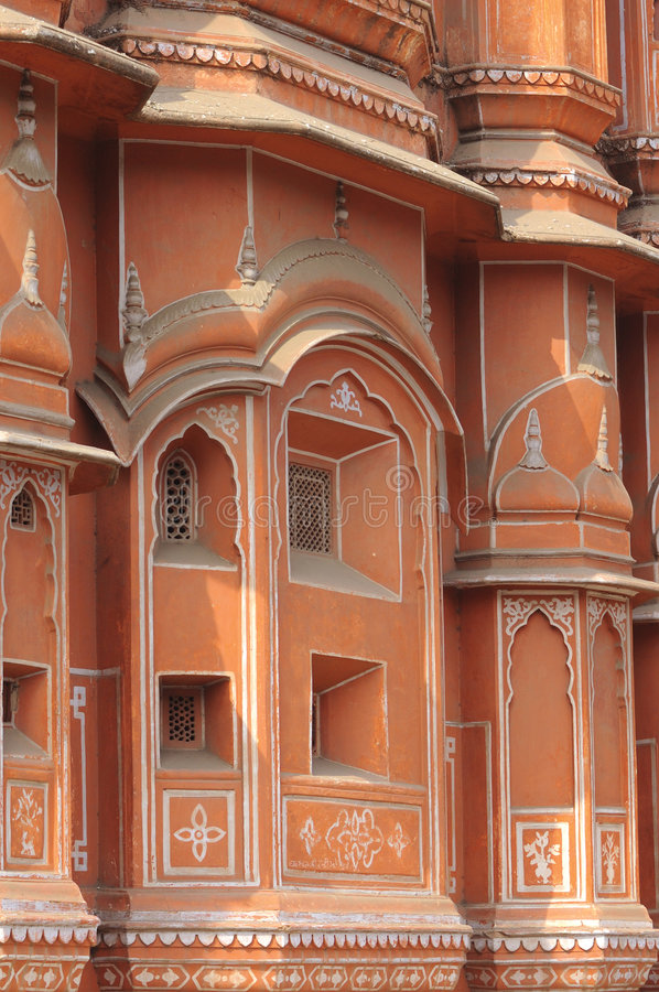 India Jaipur Hawa Mahal the palace of winds. India Jaipur; hawa mahal the palace of winds; situated in the heart of the city this palace is the major attraction royalty free stock photo