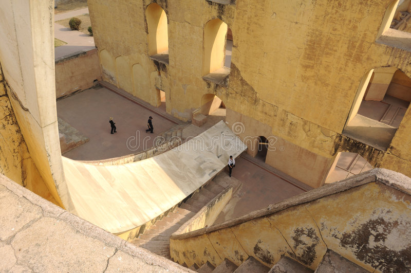 India Jaipur Jaipur Observatory Sundial. This is the largest sundial on planet earth ; constructed by the founder of the pink city , jaipur, the astronomer king royalty free stock photos