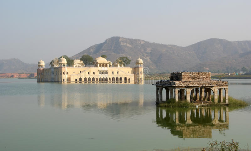 India, Jaipur. The palace Dzhal-Mahal - is. India, Jaipur, also popularly known as the Pink City, is the capital of the Indian state of Rajasthan. The palace stock image