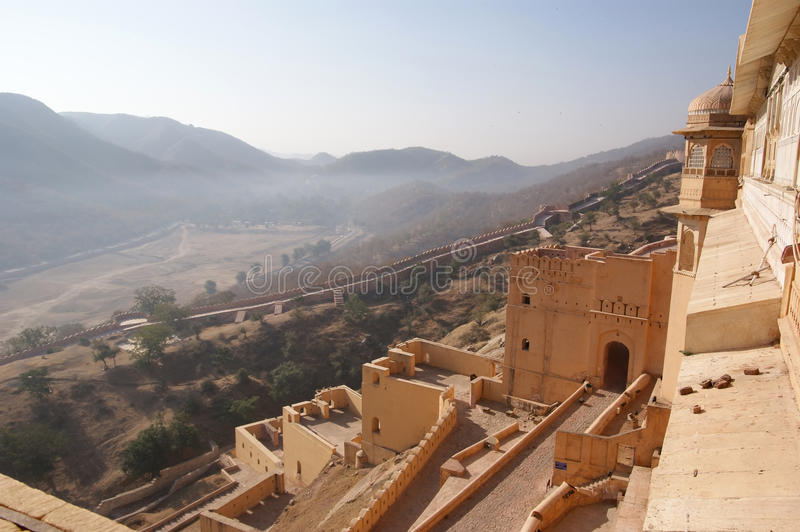 India, Jaipur (Palace of the Maharaja). Also popularly known as the Pink City, is the capital of the Indian state of Rajasthan royalty free stock photography