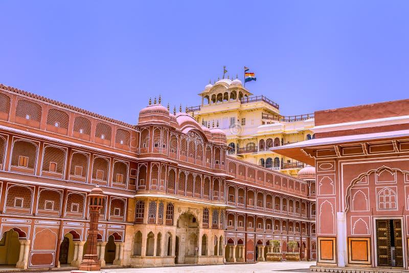India jaipur Stad Palace stock afbeelding