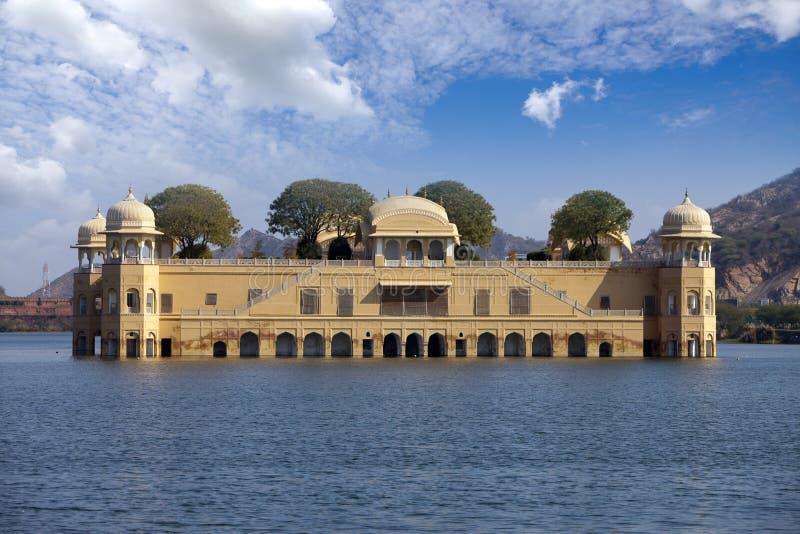 India. Jaipur. Water palace- Jal Mahal.  stock image