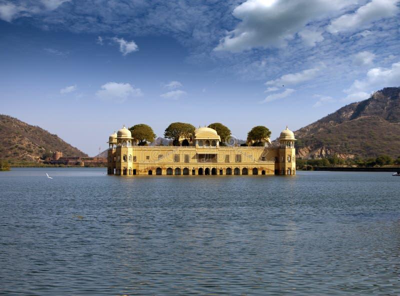 India. Jaipur. Water palace- Jal Mahal.  stock photo