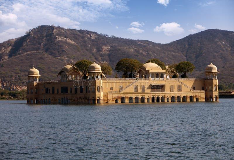 India. Jaipur. Water palace- Jal Mahal.  royalty free stock image