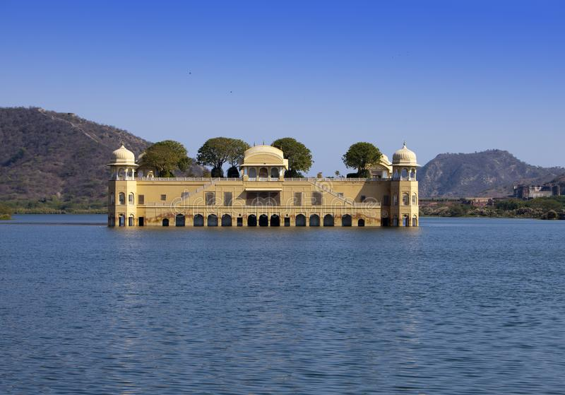 India. Jaipur. Water palace- Jal Mahal.  royalty free stock photography