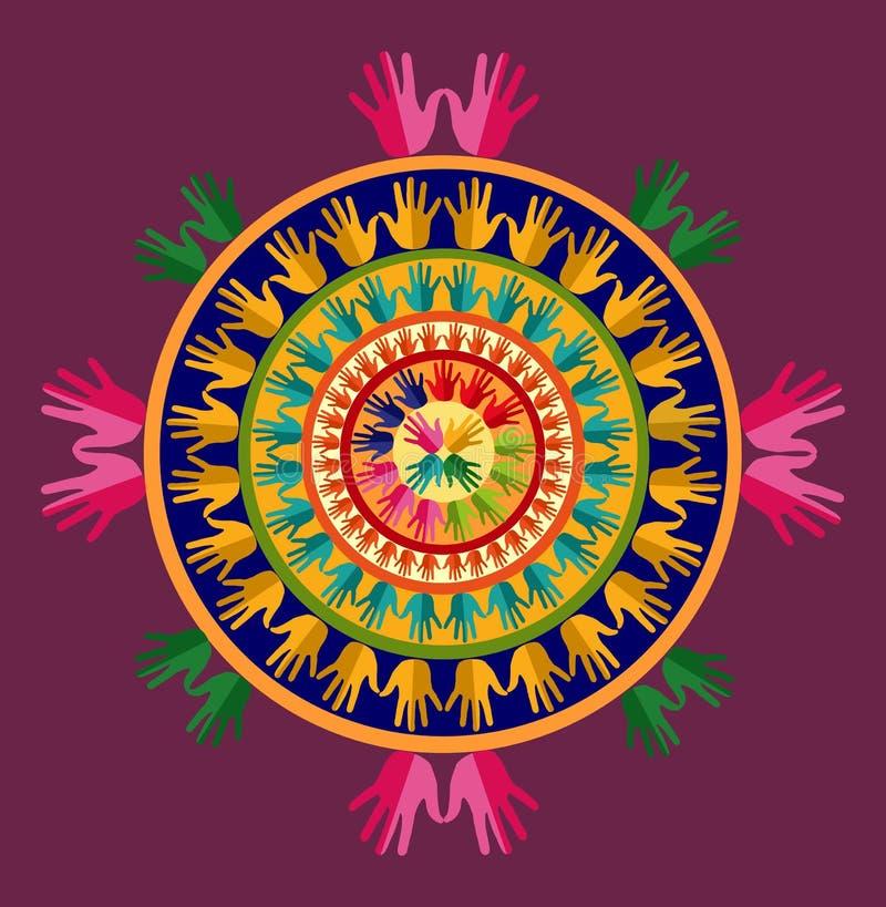 India joga mandala ilustracji