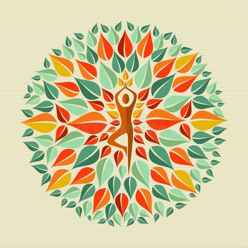India joga mandala ilustracja wektor