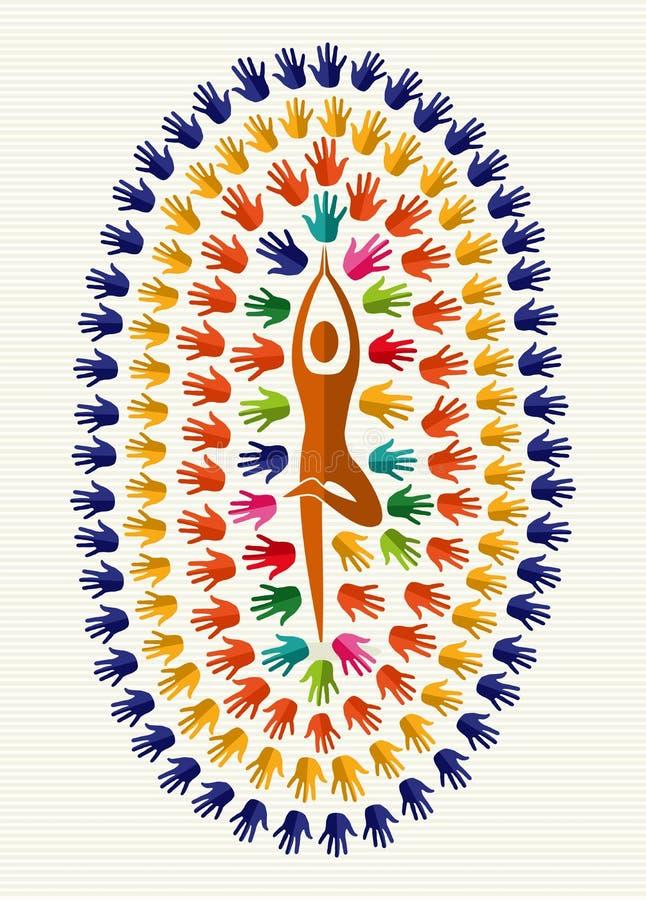 India joga ręki ilustracji