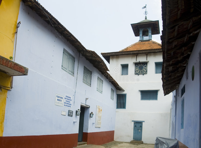 india judisk kochi synagoga royaltyfri fotografi