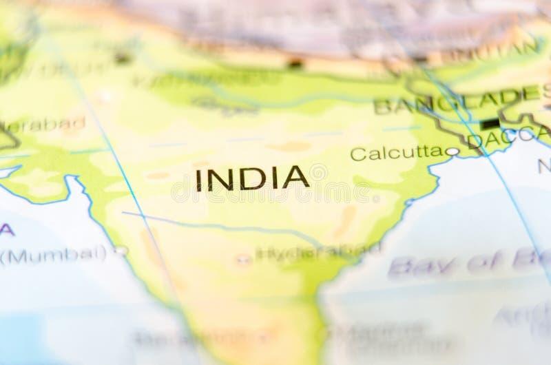 India kraj na mapie zdjęcia stock