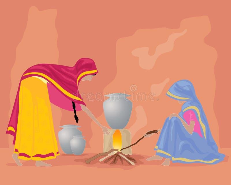 India kuchnia royalty ilustracja