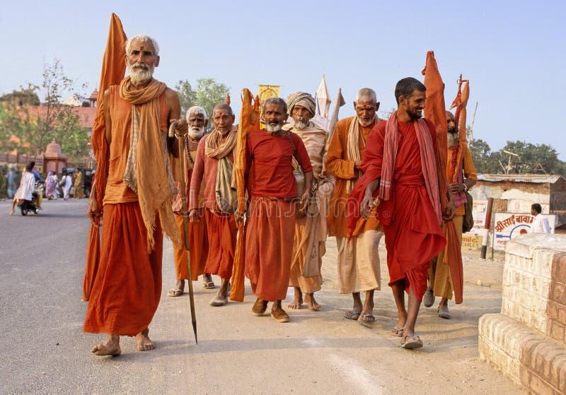 india kumbhmela arkivfoton