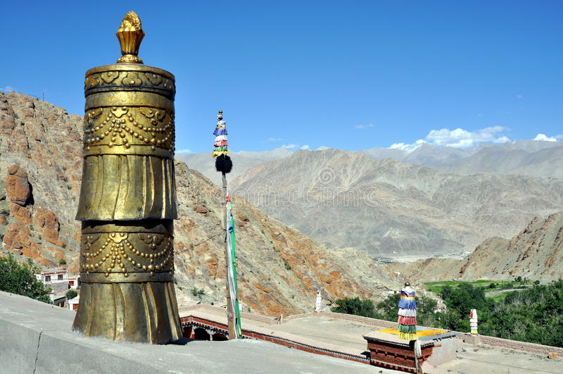 India - Ladakh krajobraz od Hemis monasteru obrazy royalty free