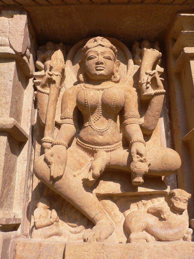 India, Madhya Pradesh, Khajuraho, Tempel Mahadeva royalty-vrije stock foto's