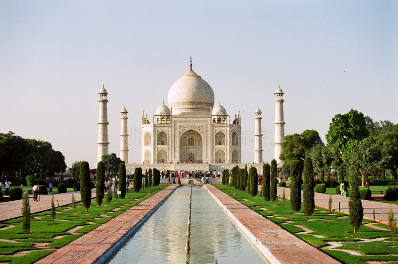 india mahal taj royaltyfri foto