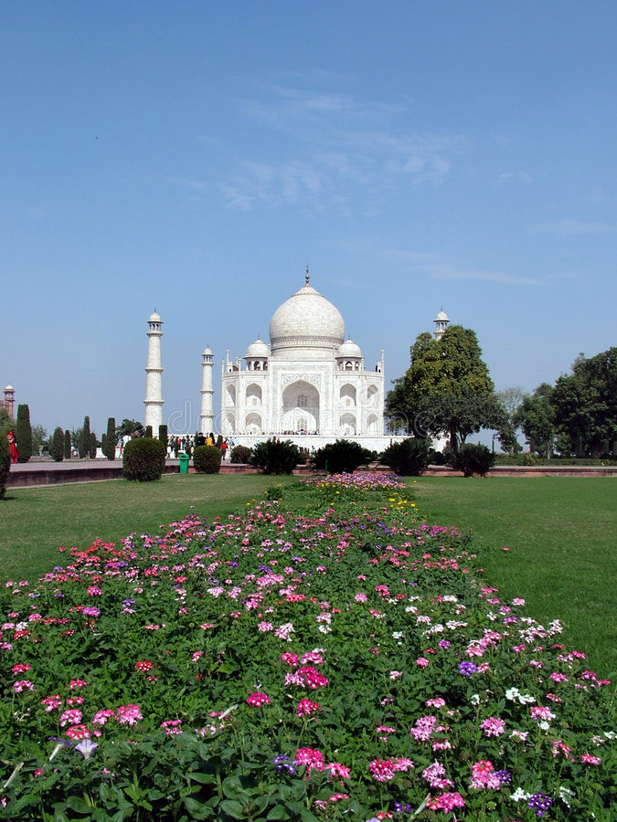 India Mahal Taj Royaltyfri Bild