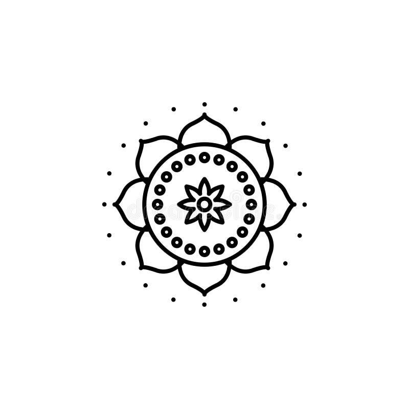 India, mandala ikona Element India kultury ikona Cienka kreskowa ikona dla strona internetowa projekta i rozwoju, app rozwój prem ilustracji