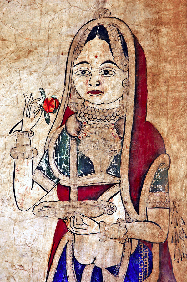 Free India, Mandawa: Colourful Frescoes Royalty Free Stock Photography - 4925247