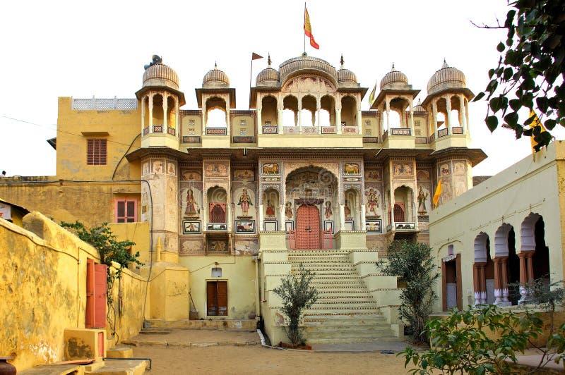 India, Mandawa: klein paleis royalty-vrije stock foto's