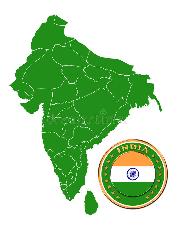 Download India Map Stock Image - Image: 27026951