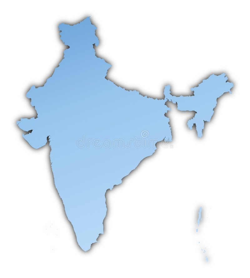 Download India map stock illustration. Image of design, country - 7321851