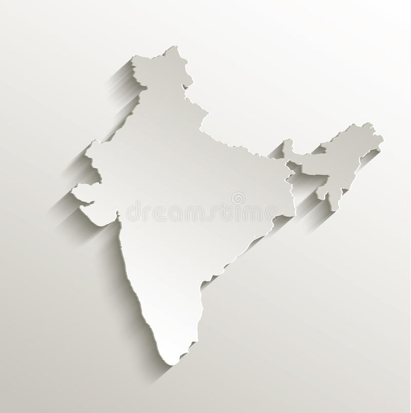 India Map Card Paper 3D Natural Stock Vector - Illustration of ...