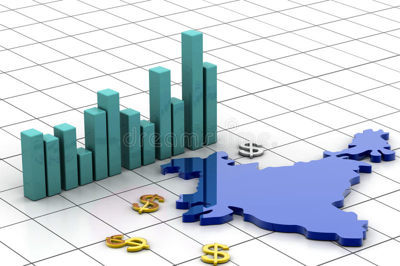 India Map And Currency Stock Photography