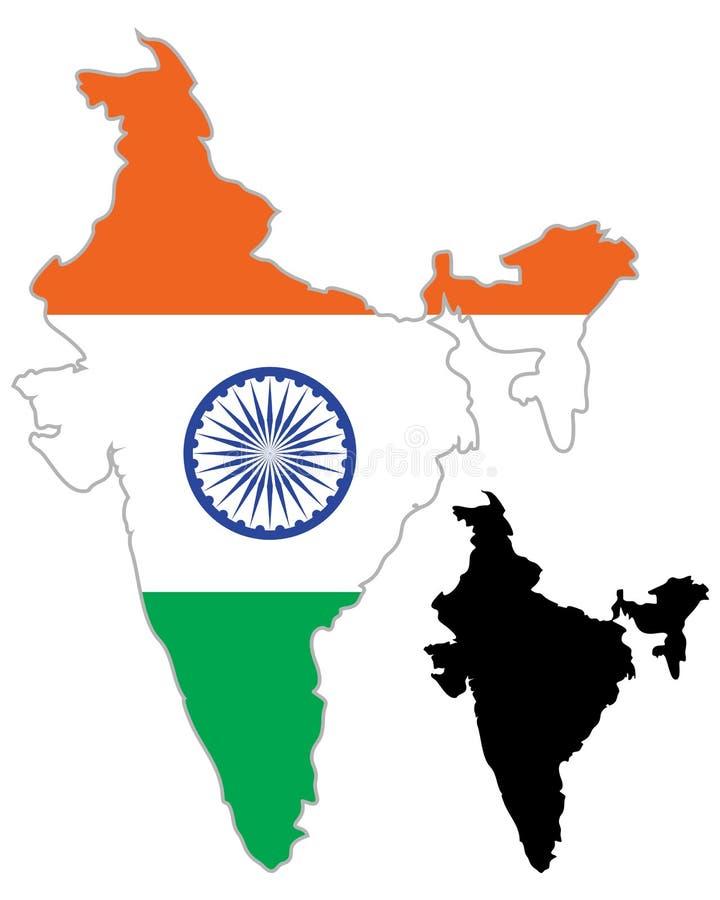 India map flag vector illustration