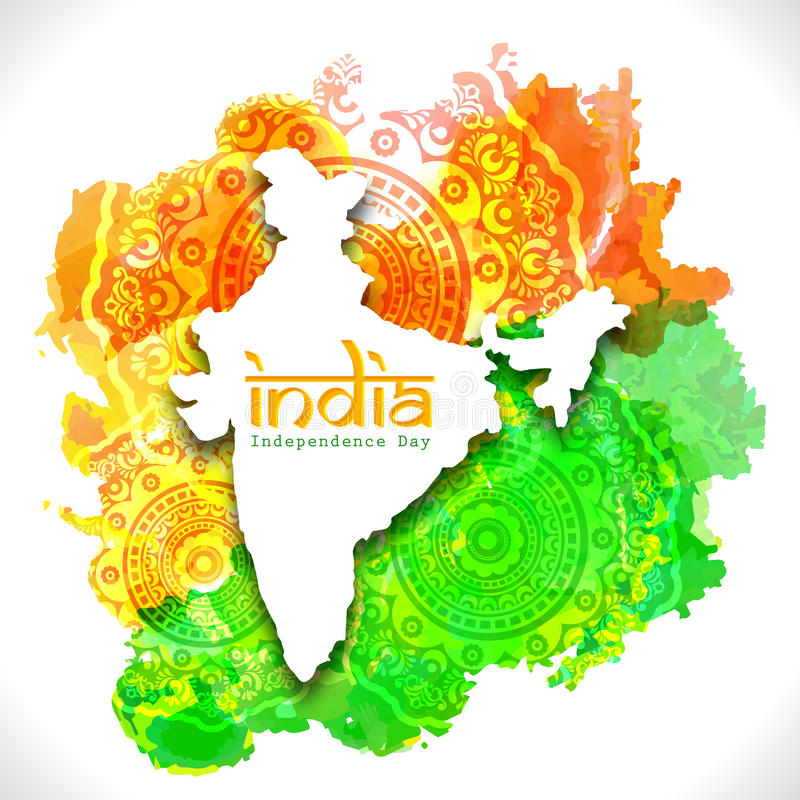 India Map For Indian Independence Day Stock Illustration