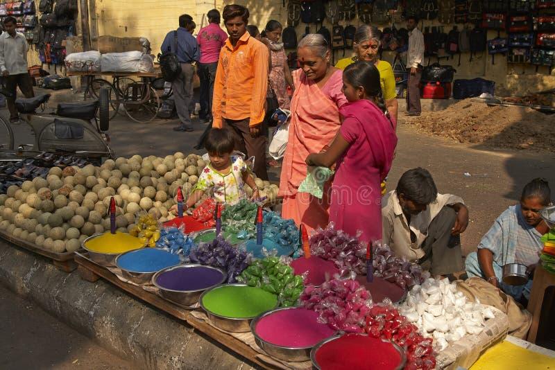 india marknadsgata royaltyfria foton