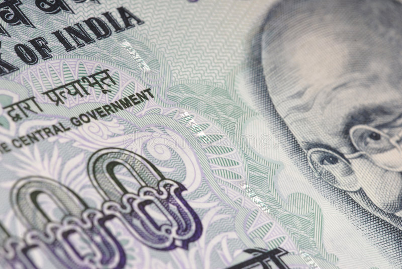 India Money Detail stock image