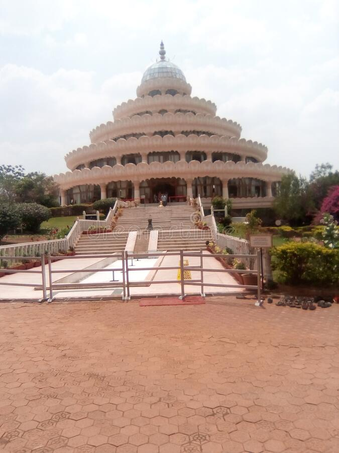 India is a most popular temple in bengluru. Very nice temple  thish temple is a budha temple stock image