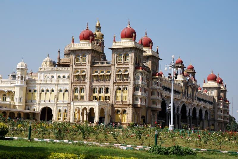 india mysore slott royaltyfri fotografi