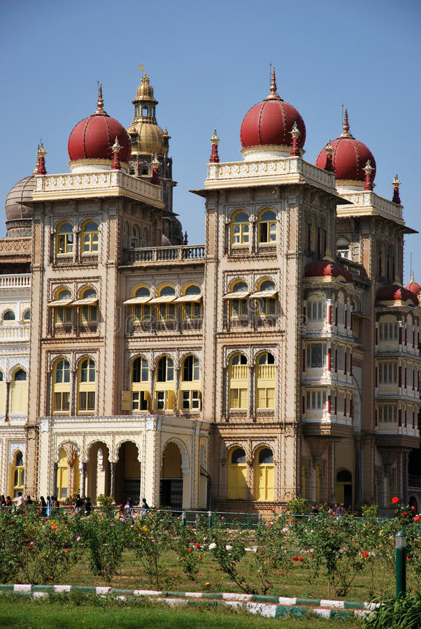 india mysore slott arkivbild